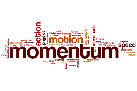 momentum: Momentum concept word cloud background
