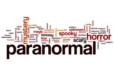 paranormal: Paranormal concept word cloud background