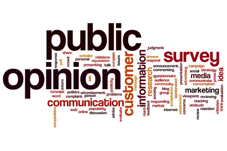 public opinion: Public opinion concept word cloud background