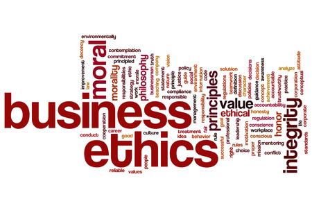 valores morales: �tica en los negocios palabra nube concepto de fondo