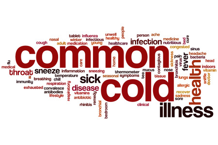 Common cold concept word cloud background photo