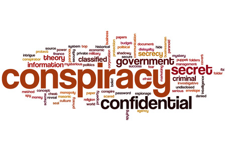 Conspiracy concept word cloud background photo