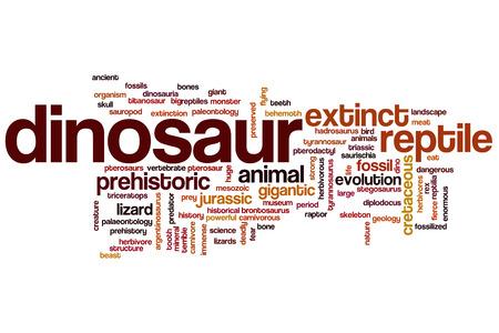 Dinosaur concept word cloud background photo