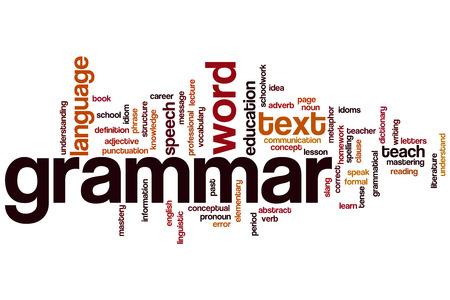 文法概念単語雲の背景 写真素材