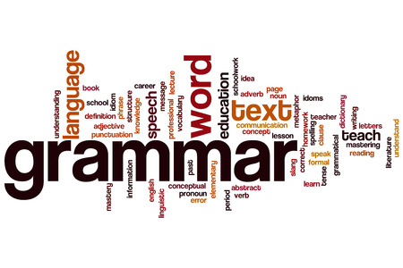 Grammar concept word cloud background photo