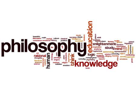 platon: Philosophy concept word cloud background