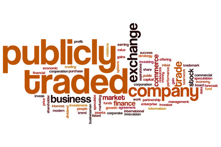 Publicly Traded Concept Word Cloud Background Stock Photo Picture