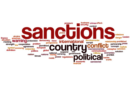 military press: Sanctions concept word cloud background