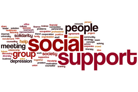 Social support concept word cloud background photo