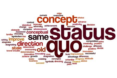 quo: Status quo concept word cloud background