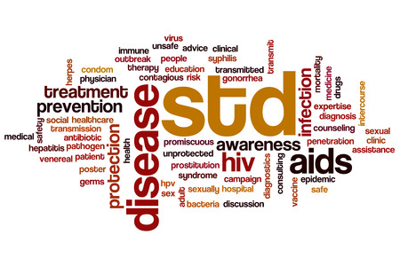 transmitted: STD concept word cloud background