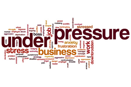 downtrodden: Under pressure concept word cloud background