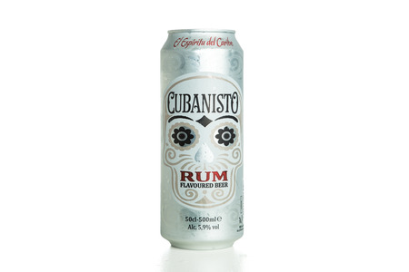 TOURS, FRANCE - September 28,2014: Cubanisto is a rum beer launched by AB InBev.