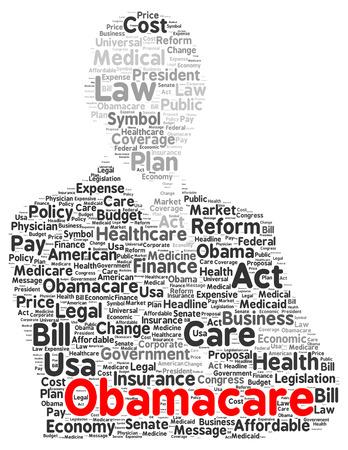 Obamacare 単語雲図形概念