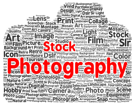 Stock photography word cloud shape concept photo