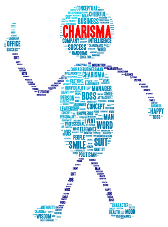 charisma: Charisma word cloud shape concept