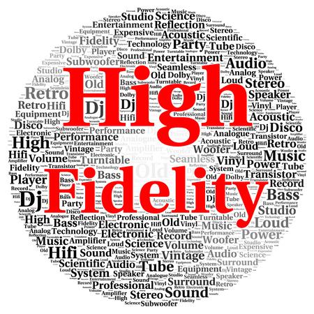 High fidelity woordwolk van vorm begrip