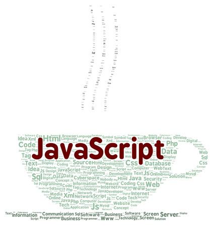 javascript: JavaScript palabra forma de la nube concepto