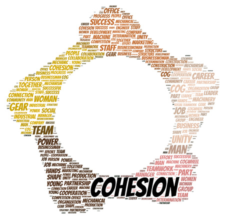 cohesion: Cohesion word cloud shape concept Stock Photo