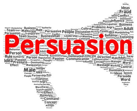 persuasion: Persuasion word cloud shape concept