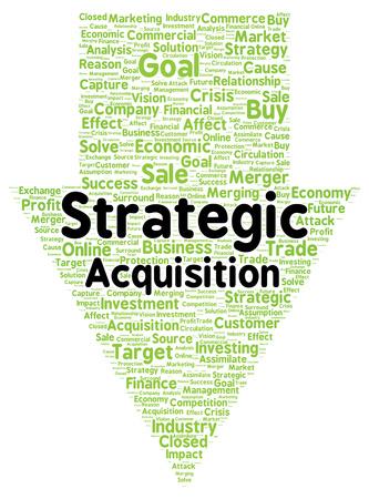 assimilate: Strategic acquisition word cloud shape concept