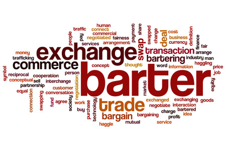 barter: Barter word cloud concept
