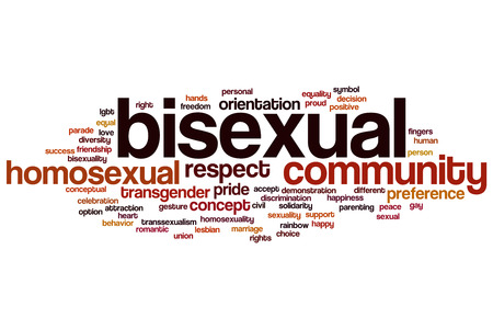 Bisexual word cloud concept photo