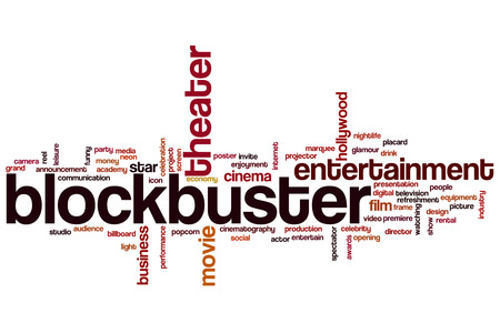 Blockbuster word cloud concept photo