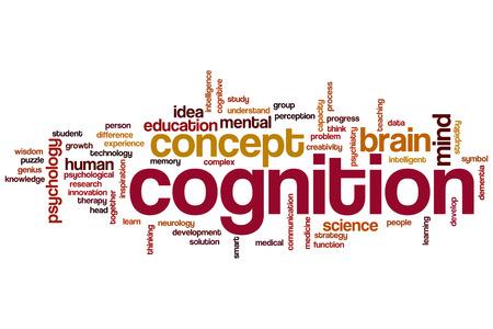 cognicion: Cognici�n concepto de nube de palabras Foto de archivo