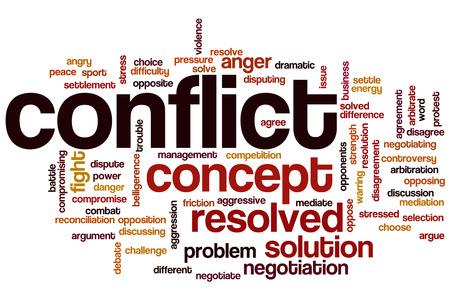 Conflicto concepto de nube de palabras Foto de archivo - 33186195