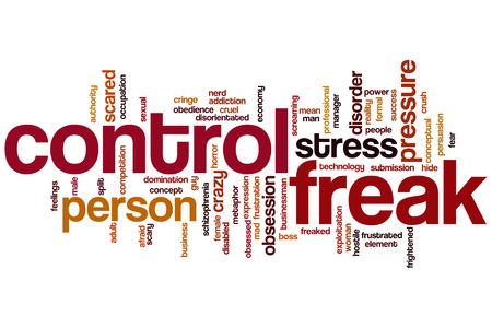 Control freak word cloud concept photo