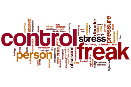 freak: Control freak word cloud concept
