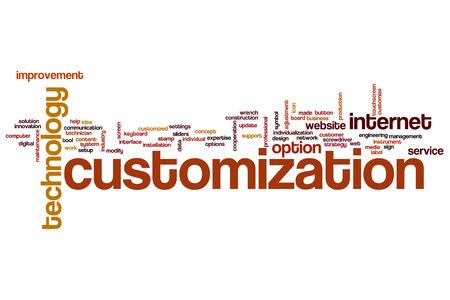 customization: Customization word cloud concept