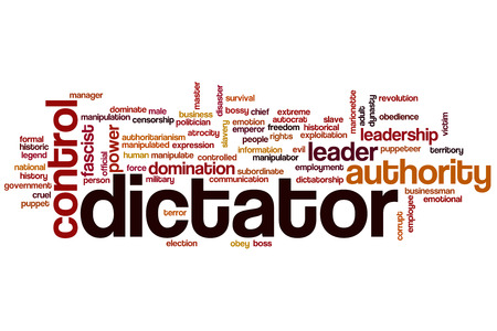Dictator word cloud concept photo