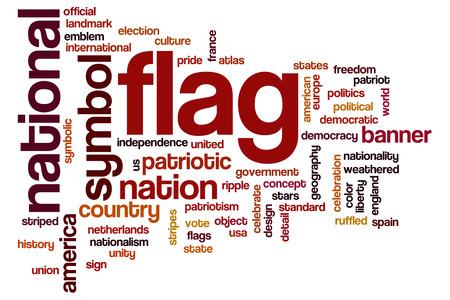 Flag word cloud concept photo