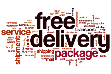 Free delivery word cloud concept photo