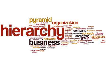 Hierarchy word cloud concept photo