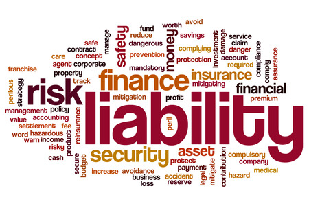 Liability word cloud concept photo