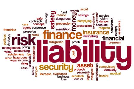 reduce risk: Liability word cloud concept