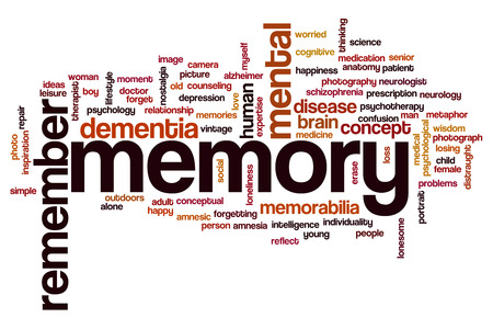 Memory word cloud concept Stock Photo