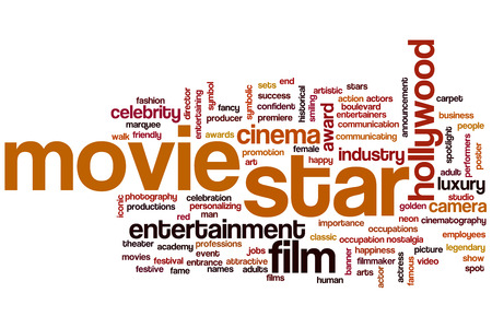 Movie star word cloud concept photo