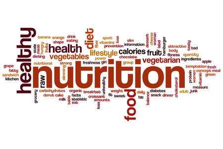Nutrition word cloud concept 스톡 콘텐츠