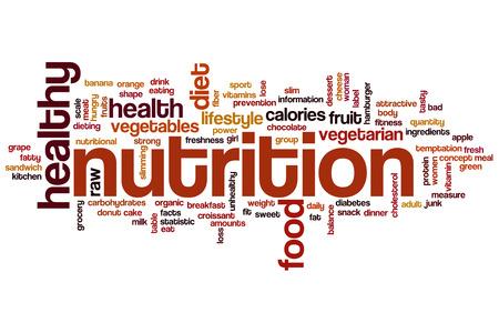 salute: Nutrizione nube concetto di parola