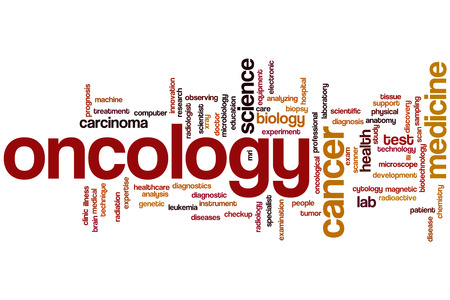 oncology: Oncology word cloud concept