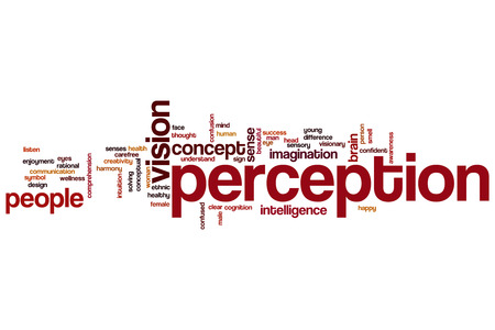 Perception word cloud concept Stock Photo