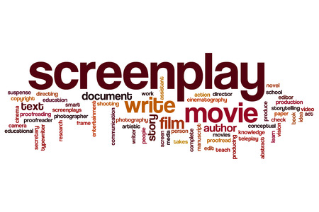 producing: Screenplay word cloud concept