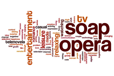 Soap opera word cloud concept
