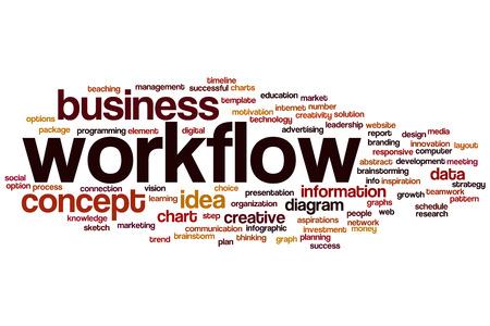 Workflow word cloud concept photo