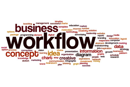 Workflow word cloud concept