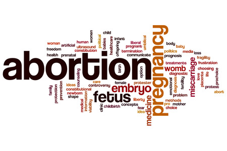 birth prevention: Abortion word cloud concept